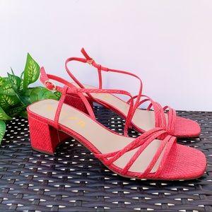 Unisa Kindal Red Snake print sandal